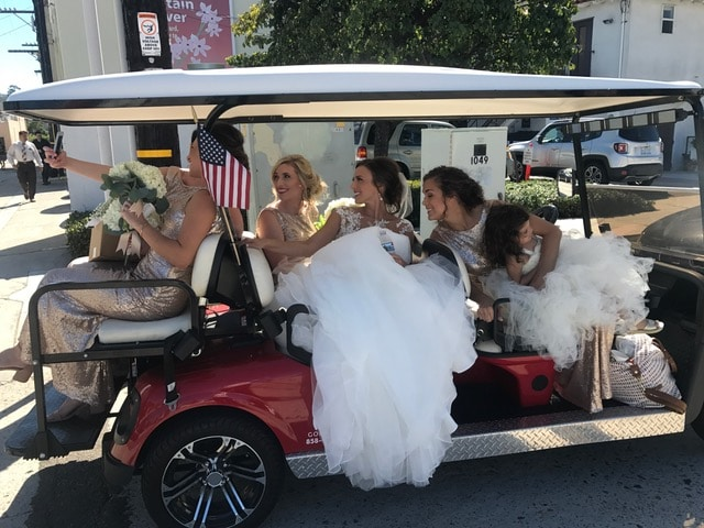 Golf Cart Rental for Weddings in San Diego