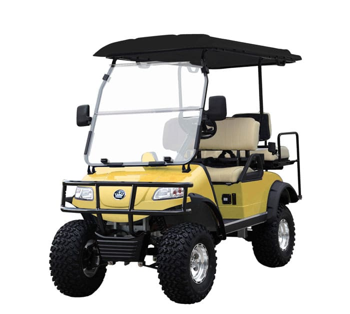 Forrester 4 yellow - Street legal golf cart San Diego